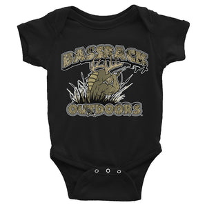 """Mommy and Daddy's little duck/goose hunter"" Infant onesie"