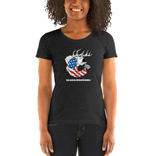Ladies' U.S.A. Pride - Comfortable & Soft Tri-Blend Short Sleeve (Sizes Small - 2XL & Multiple Colors Available)