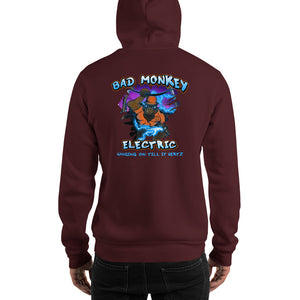Bad Monkey Electric - Comfortable Hoodie Front & Back (Sizes Small - 5XL & Multiple Colors Available)