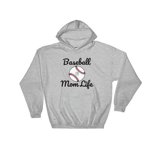 Baseball Mom - Quality, Cozy Hooded Sweatshirt (Sizes Small - 5XL & Multiple Colors Available)