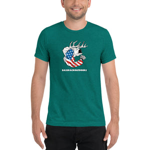 U.S.A. Pride - Comfortable Tri-Blend short sleeve t-shirt (Sizes Small-4XL & Multiple Colors Available)