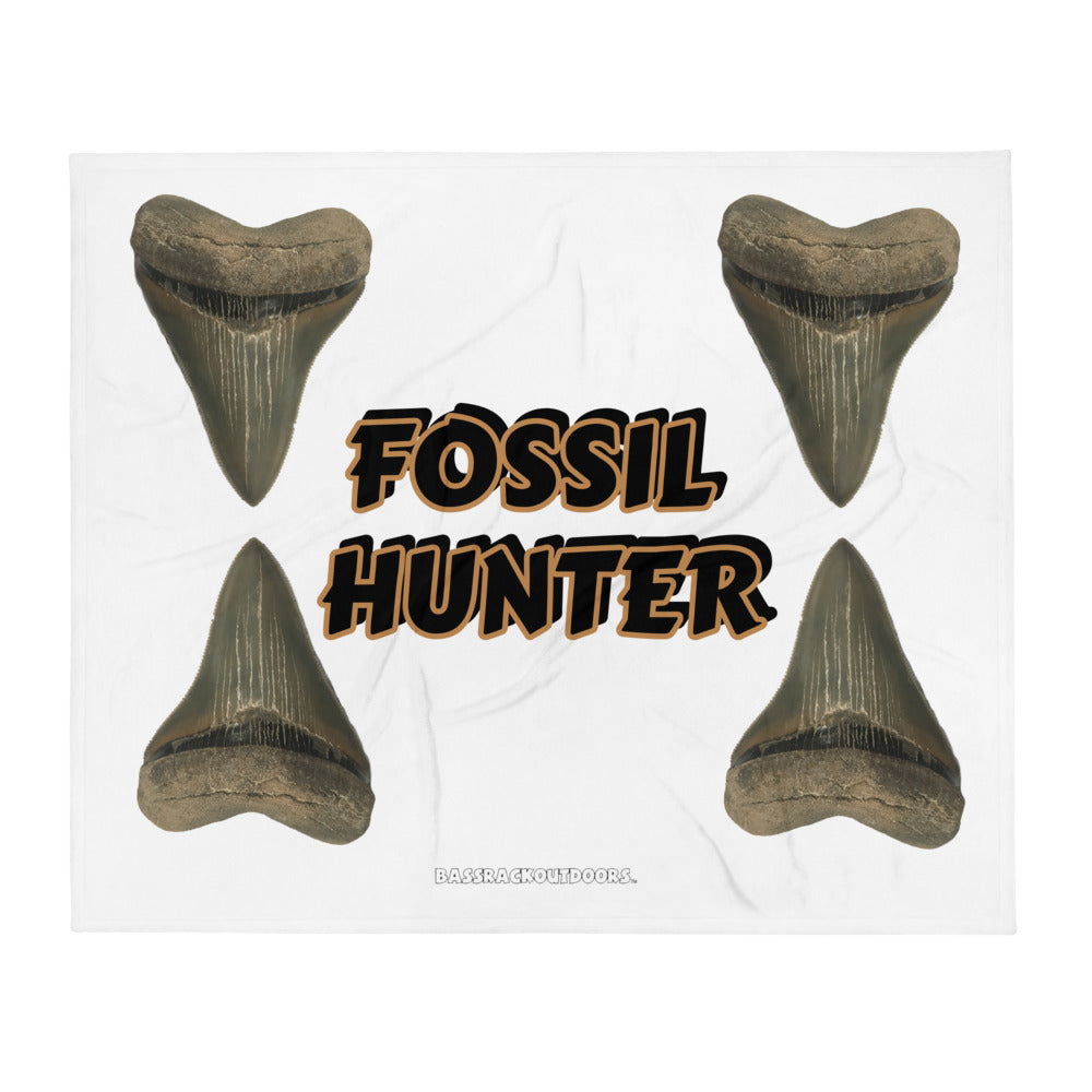 Fossil Hunter - (50x60 inch) Quality Silk Touch Throw Blanket GIANT MEGS!!