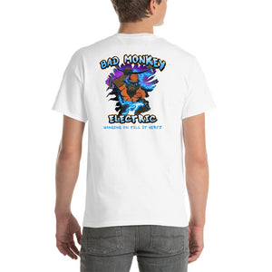 Bad Monkey Electric - Comfortable Men's T-Shirt Front & Back (Sizes Small - 5XL & Multiple Colors Available)