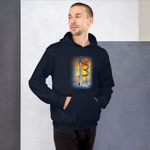 JENKS BLADEWORKS BAPTIZED IN FIRE 🔥 : American Steel - American Made - American Muscle & Grit !!!  Quality Hooded Sweatshirt (Sizes Small - 5XL & Multiple Colors Available)