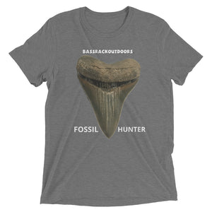 Megalodon Fossil Hunter: Quality Tri-blend tshirt