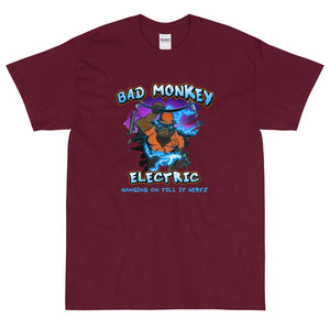 Bad Monkey Electric - Comfortable Men's T-Shirt Front Color (Sizes Small - 5XL & Multiple Colors Available)