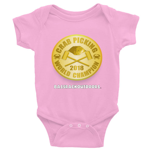 Mommy and Daddy's Little Crab Picking WORLD CHAMPION - 2018 cozy Infant Onesie
