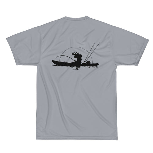 Performance Kayak Fishing UV and Wicking T-Shirt - 100% Polyester UV & Wicking Knit (2 sided)