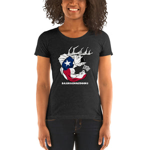 Ladies' Texas Pride - Comfortable & Soft Tri-Blend Short Sleeve (Sizes Small - 2XL & Multiple Colors Available)