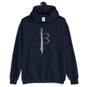 JENKS BLADEWORKS : American Steel - American Made - Straight Forged In Fire By American Muscle & Grit !!!  Quality Hooded Sweatshirt (Sizes Small - 5XL & Multiple Colors Available)