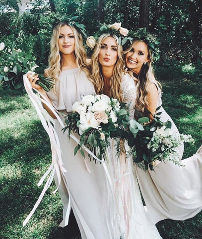 Beautiful Bohemian Bridesmaids Besties