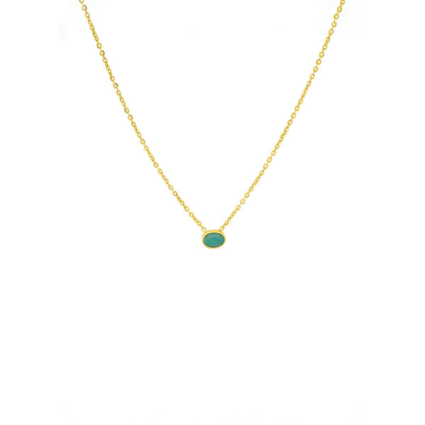 The Turquoise Choker in Gold - TheCrystalBoutique™