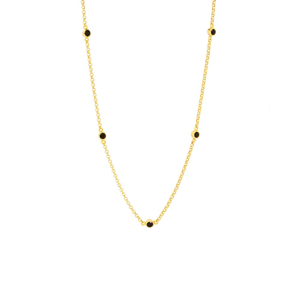 The Black Onyx Choker - Gold - TheCrystalBoutique™