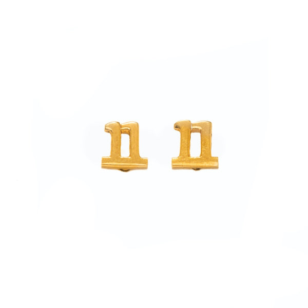The 11:11 Stud Earring - Gold - TheCrystalBoutique™