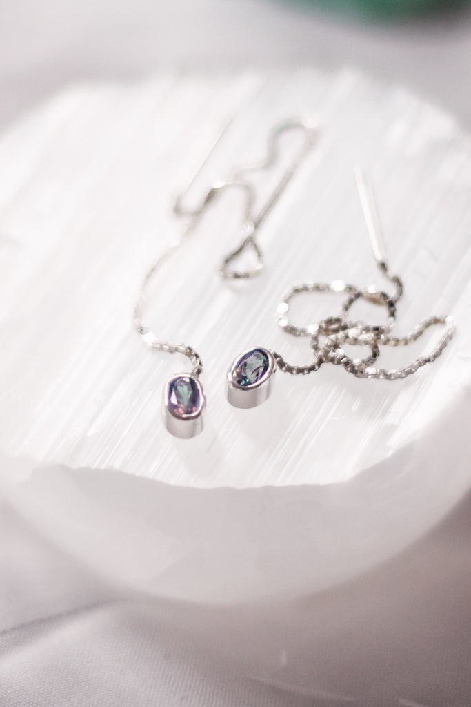 Mystic Topaz Dangle Earrings - TheCrystalBoutique