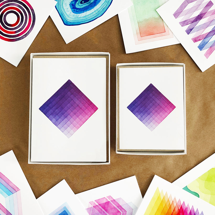 Greeting cards a perfect something 100pagesofapssketchbook geometric watercolor greeting card box set kristyandbryce Choice Image