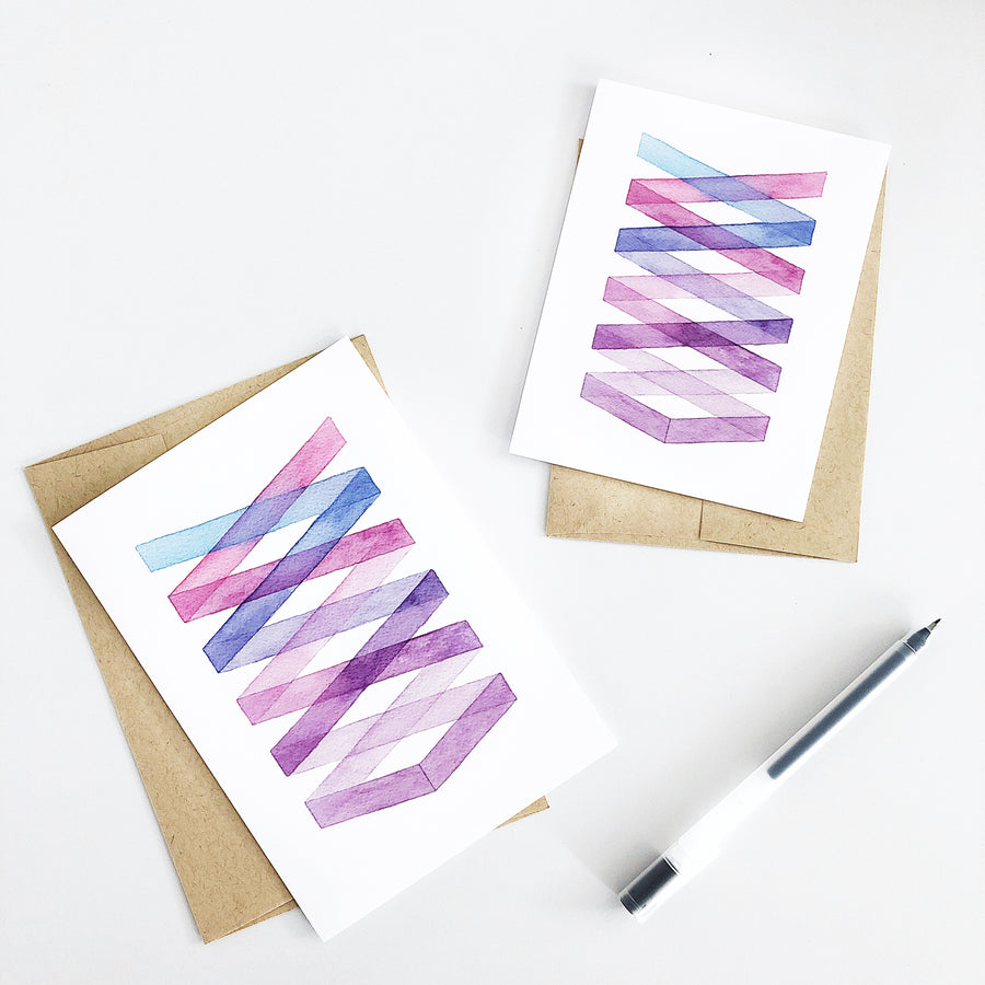 Day 29 Geometric Watercolor Greeting Card
