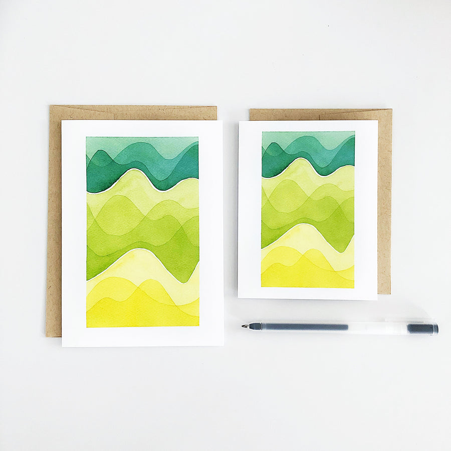 Day 49 Geometric Watercolor Greeting Card