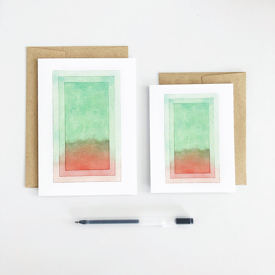 'Day 86' Geometric Watercolor Greeting Card