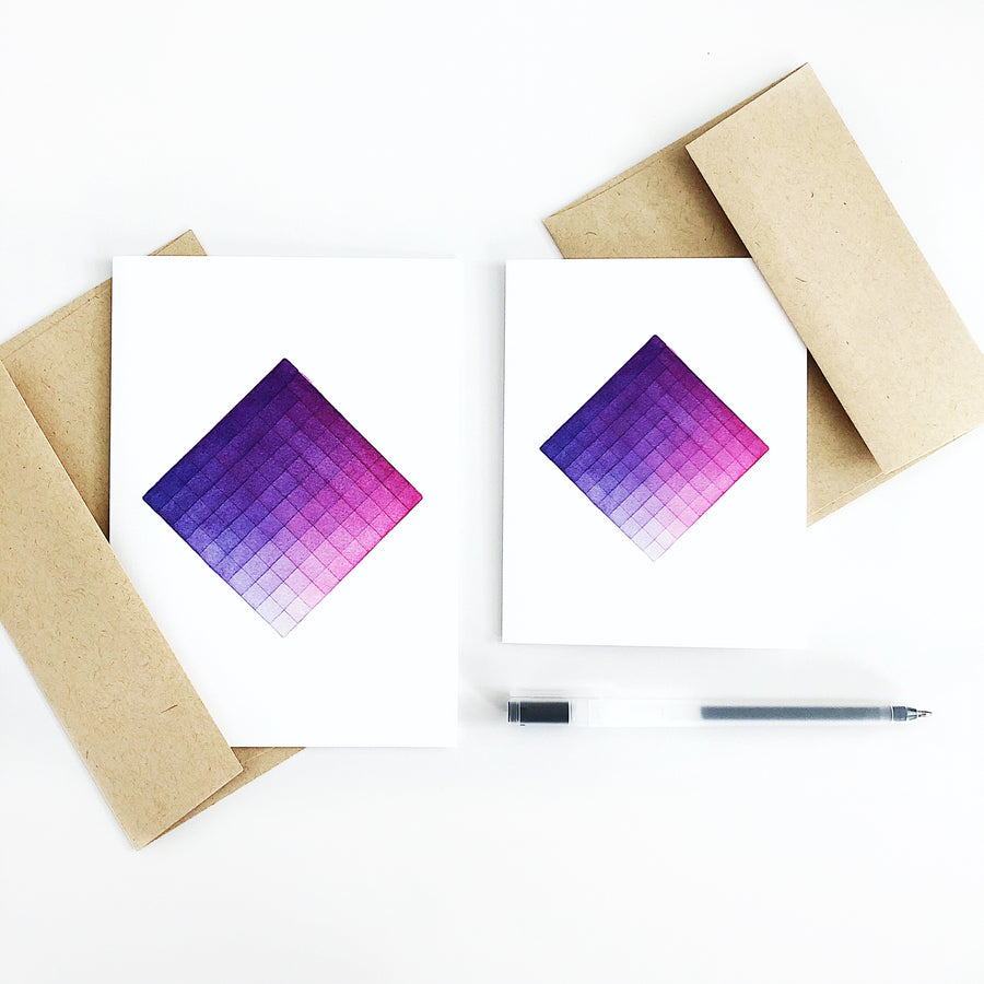 'Day 92' Geometric Watercolor Greeting Card