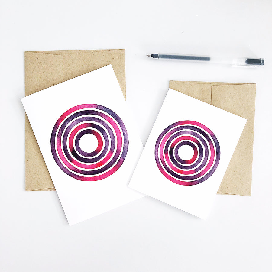 'Day 9' Geometric Watercolor Greeting Card