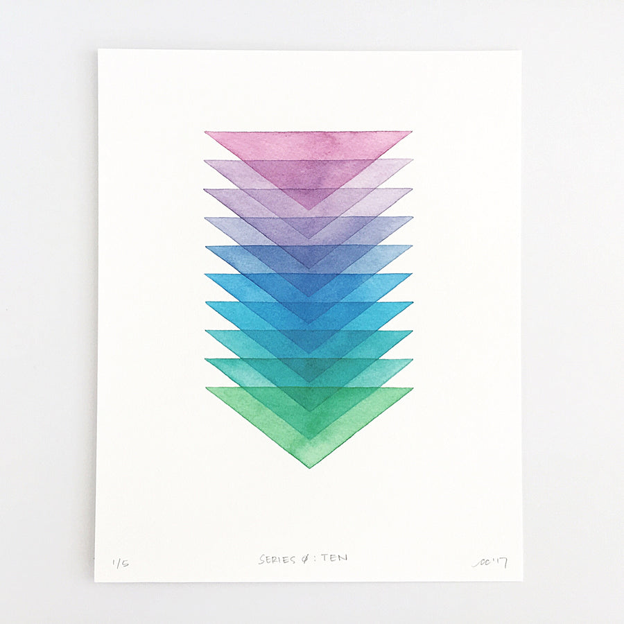 Series 0: Ten — Geometric Watercolor Limited Edition Print