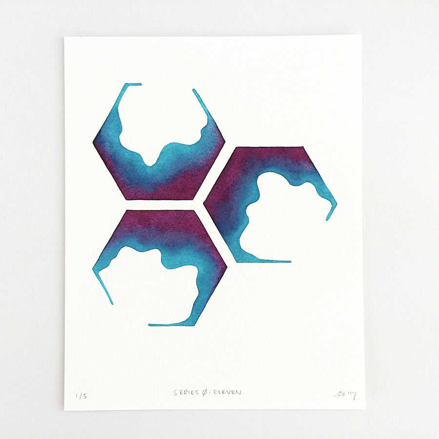 Series 0: Eleven — Geometric Watercolor Limited Edition Print