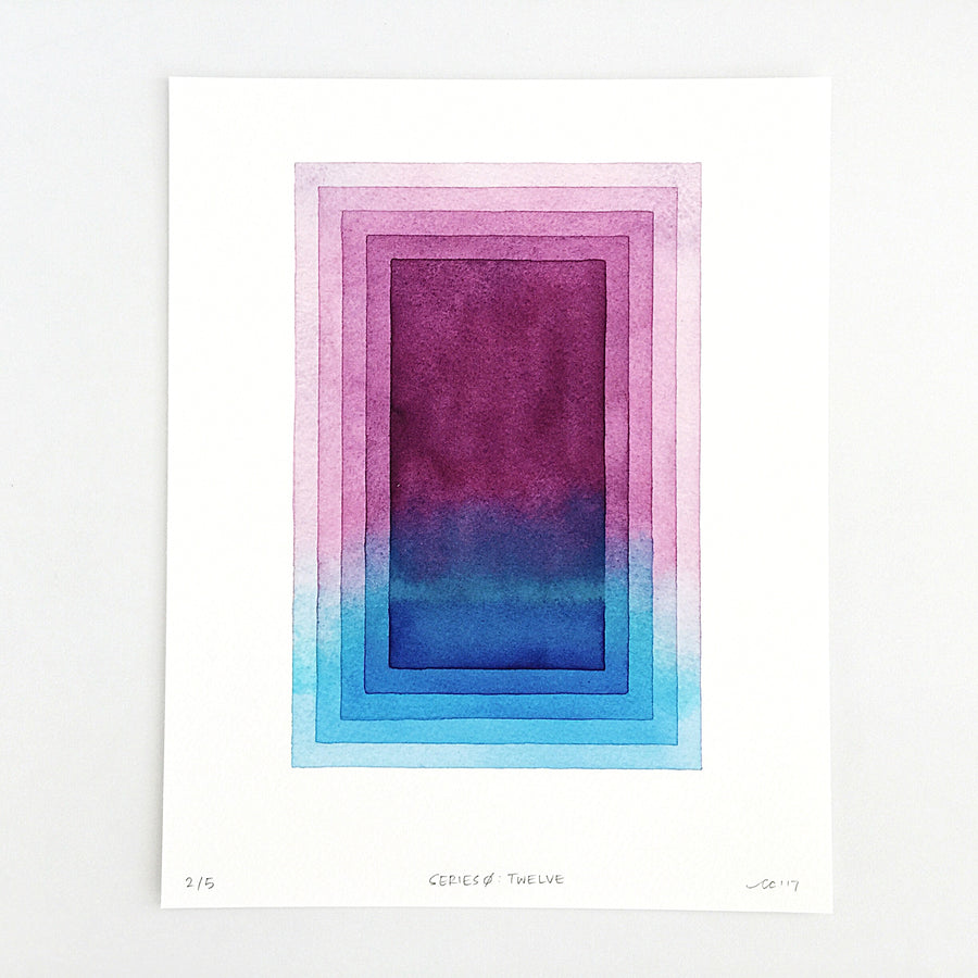 Series 0: Twelve — Geometric Watercolor Limited Edition Print