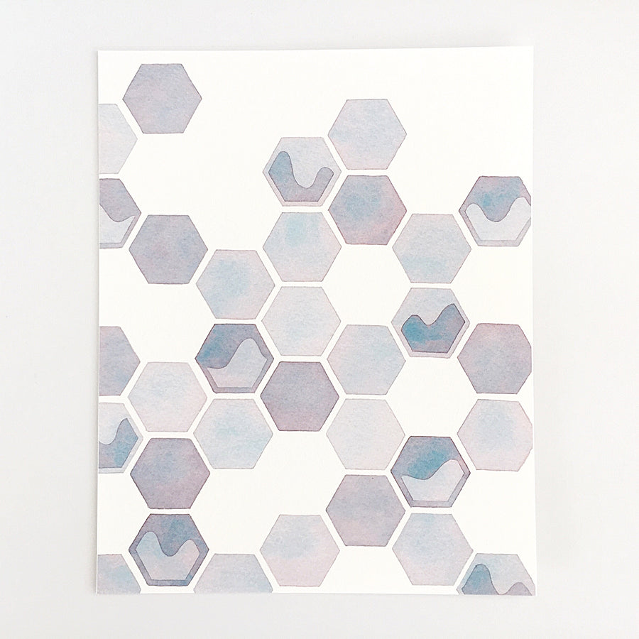 Series 0: Fourteen — Geometric Watercolor Limited Edition Print