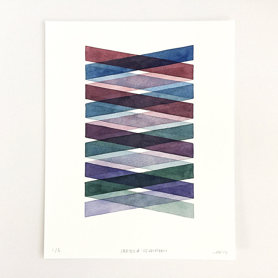 Series 0: Seventeen — Geometric Watercolor Limited Edition Print