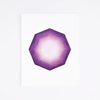 APS Gives Back Focus Geometric Watercolor Art Print 8x10