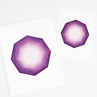APS Gives Back Focus Geometric Watercolor Art Print