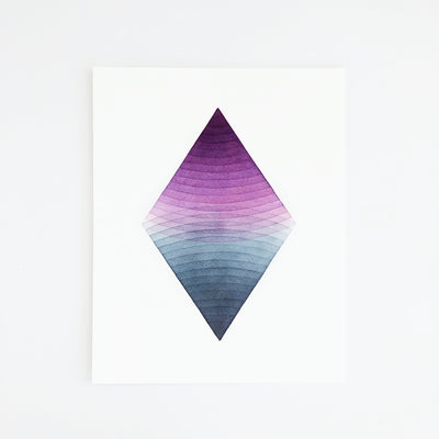 APS Gives Back Together Geometric Watercolor Art Print 8x10