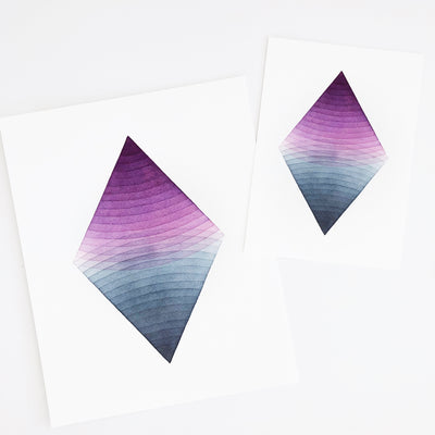 APS Gives Back Together Geometric Watercolor Art Print