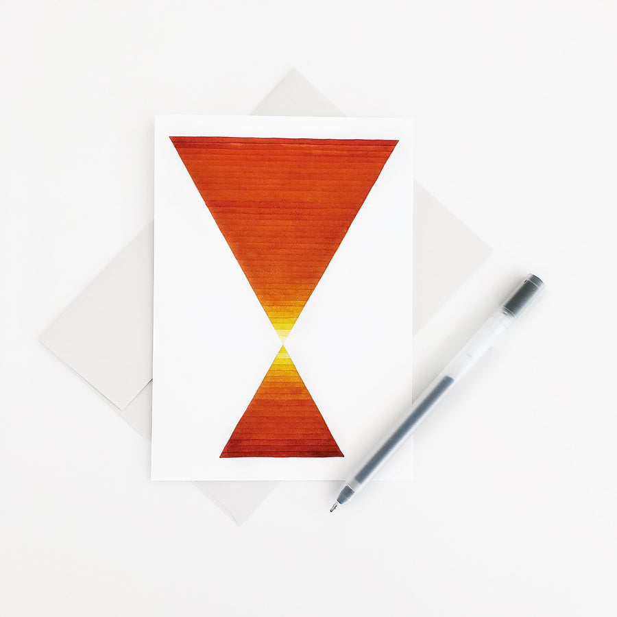 Desert Hourglass Geometric Watercolor Greeting Card APS Gives Back