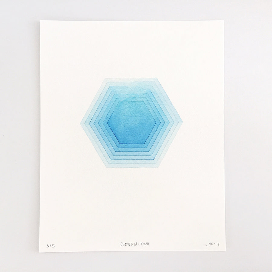 Series 0: Two — Geometric Watercolor Limited Edition Print
