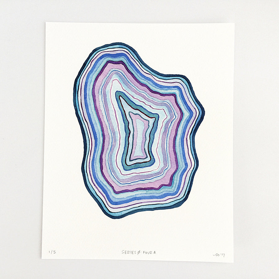 Series 0: Four A — Geometric Watercolor Limited Edition Print