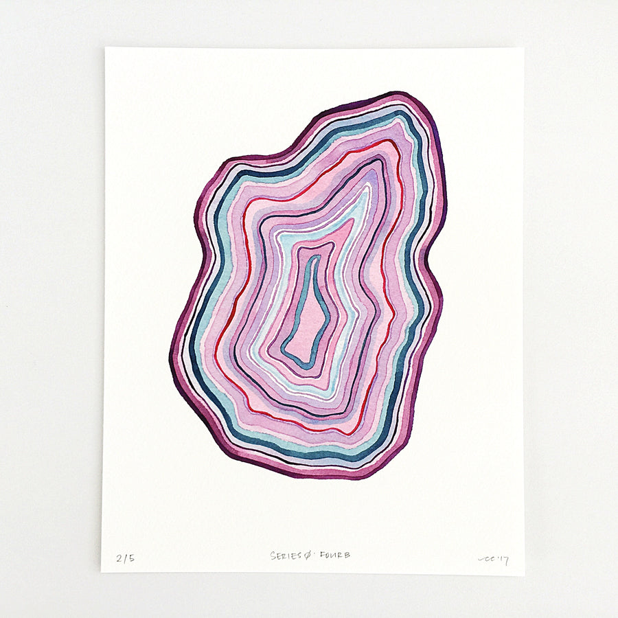 Series 0: Four B — Geometric Watercolor Limited Edition Print