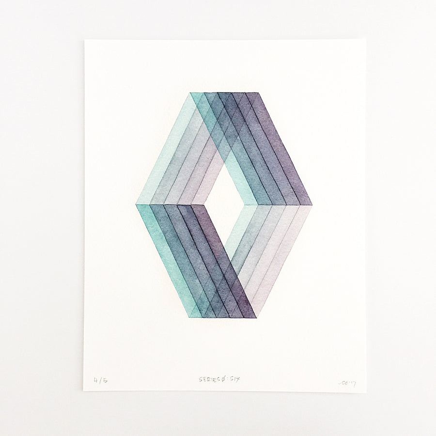 Series 0: Six — Geometric Watercolor Limited Edition Print