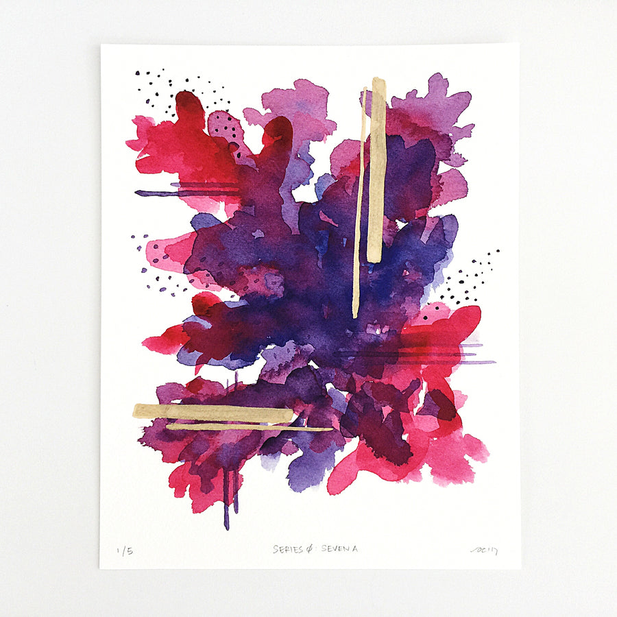 Series 0: Seven A — Geometric Watercolor Limited Edition Print