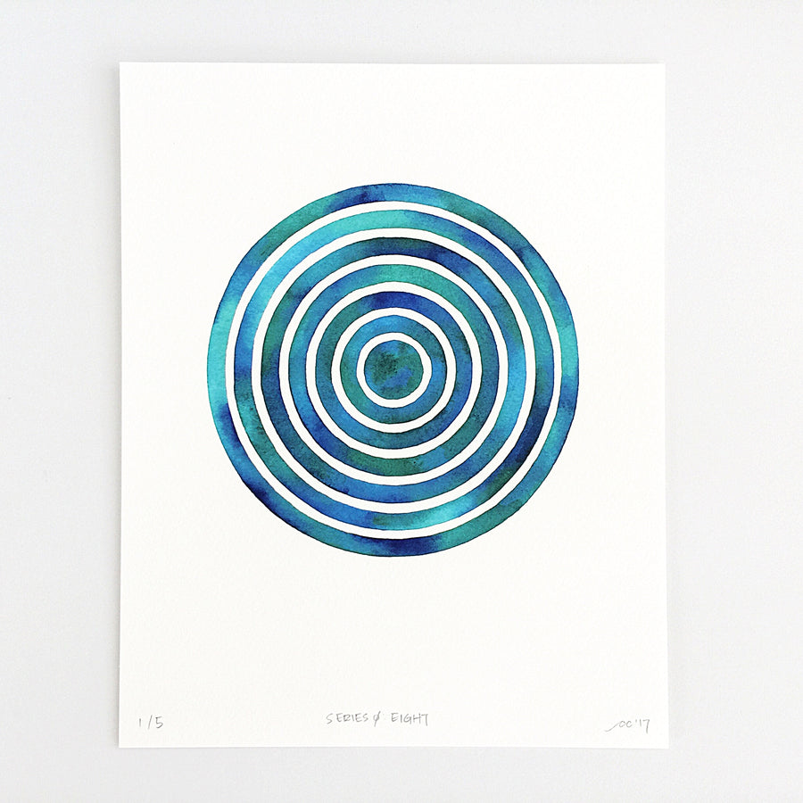 Series 0: Eight — Geometric Watercolor Limited Edition Print