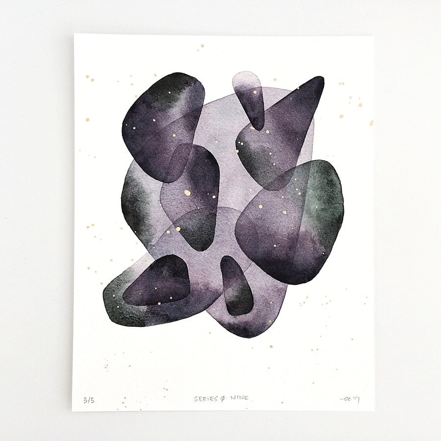 Series 0: Nine — Geometric Watercolor Limited Edition Print