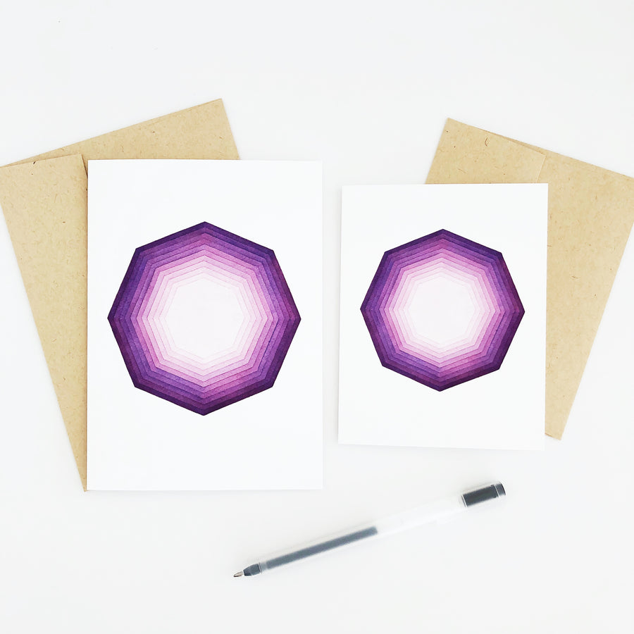 APS Gives Back Focus Geometric Watercolor Greeting Card