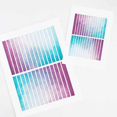 APS Gives Back Rectangle Mirror Geometric Watercolor Art Print