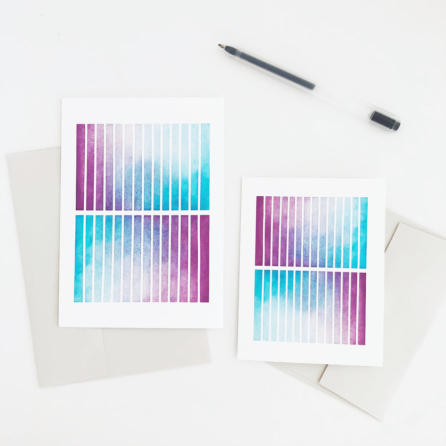 APS Gives Back Rectangle Mirror Geometric Watercolor Greeting Card