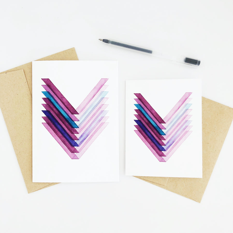 APS Gives Back Strength Geometric Watercolor Greeting Card