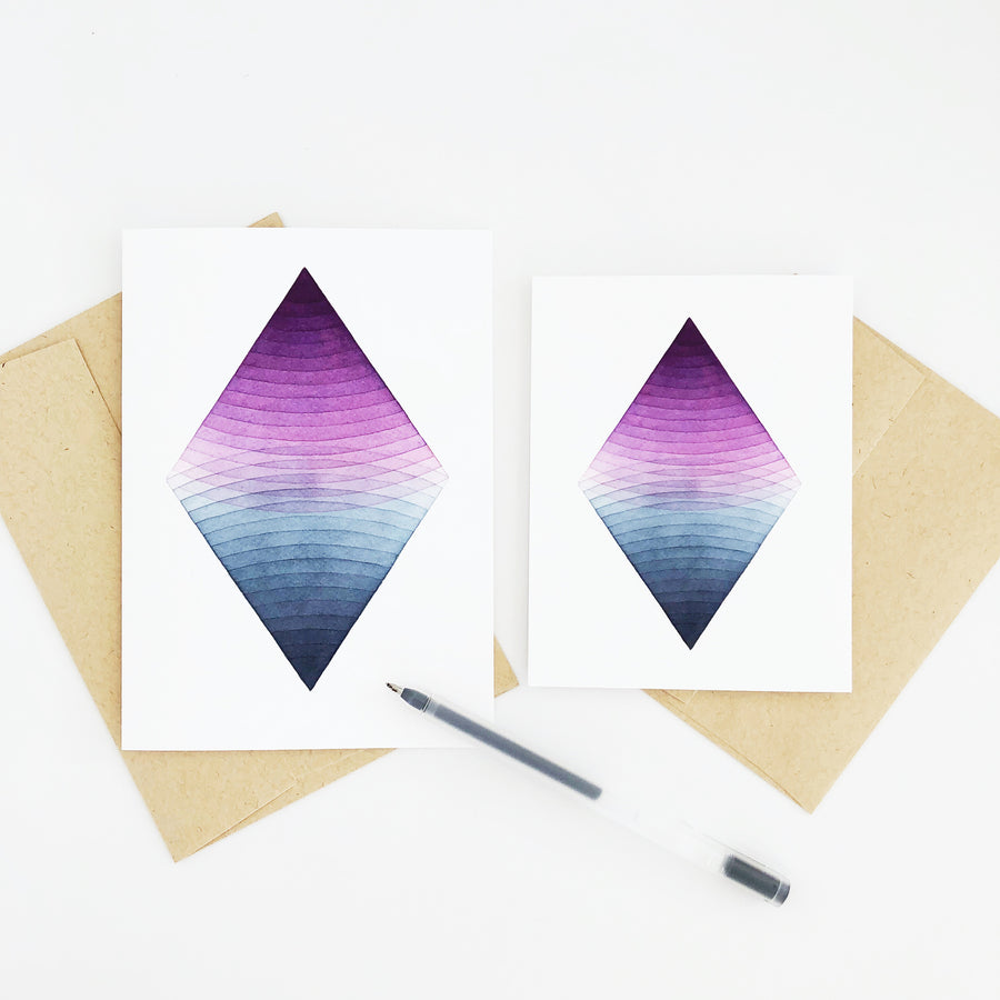 APS Gives Back Together Geometric Watercolor Greeting Card