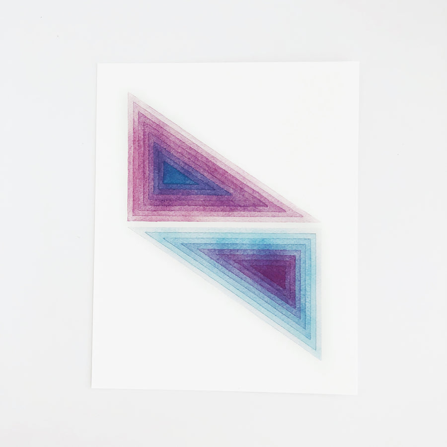 APS Gives Back Triangle Mirror Geometric Watercolor Art Print