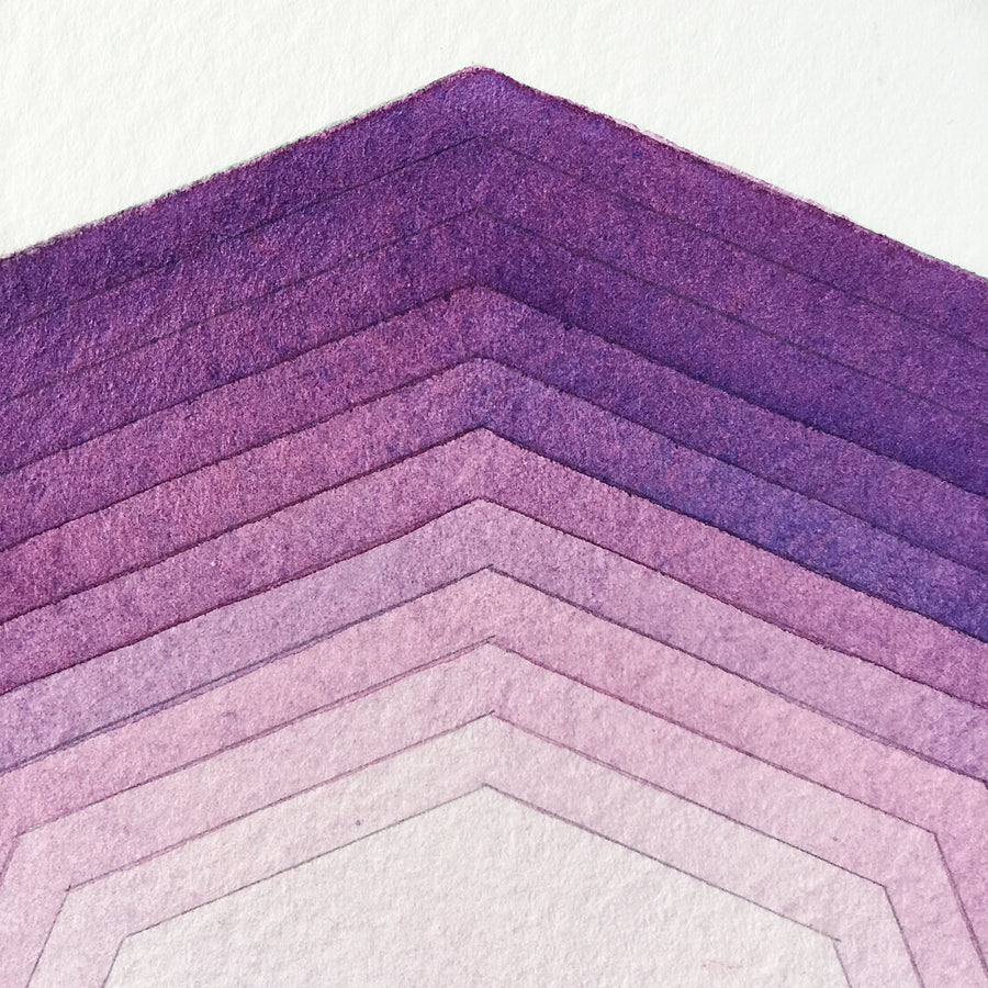'Focus' watercolor geometric art for APS Gives Back