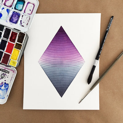 'Together' watercolor geometric art for APS Gives Back